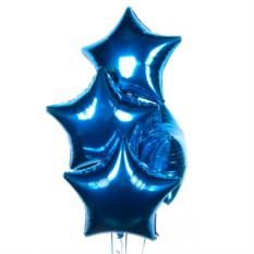 Букет из шаров Синие звезды