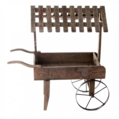Декоративная тележка с навесом на колесах Плантатор