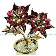 Фигурка Swarovski Красные цветы