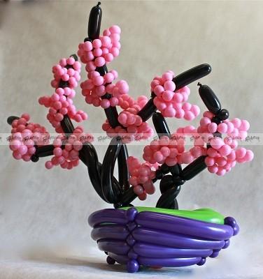 Сакура - композиция из воздушных шаров