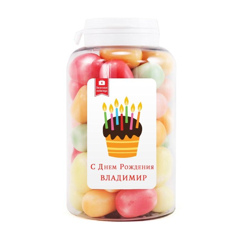 Мармеладная открытка С Днем Рождения, Владимир