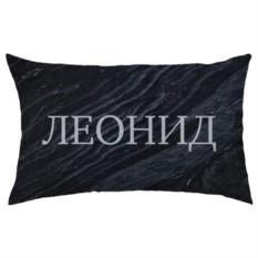 Подушка с вашим именем «Чёрный мрамор»
