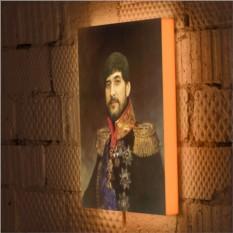 Дизайнерский 3D светильник Мужской исторический портрет