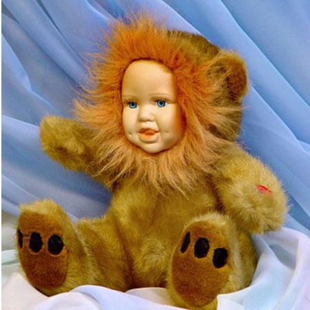 Меховая кукла «Львёнок»