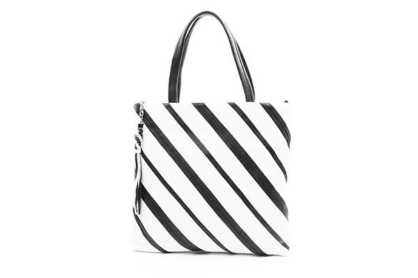 Женская кожаная сумка Palio в полоску