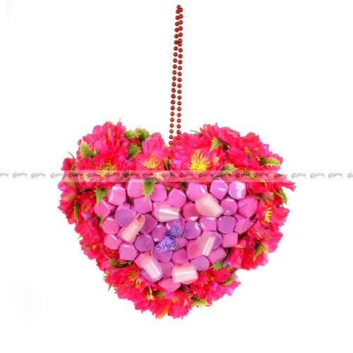 Букет из конфет Сердечко