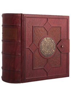 Книга-бар из натуральной кожи