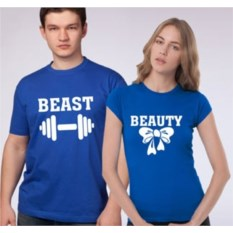 Парные футболки Beast and Beauty