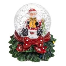 Шар со снегом и подсветкой Дед Мороз с подарком