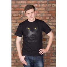 Футболка с вашим текстом Black cat