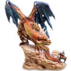 Статуэтка Дракон и воин - храбрость неуместна