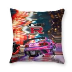 Подушка 3D с логотипом Nissan GTR