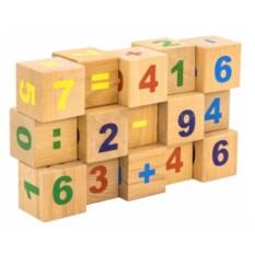 Кубики Цифры (неокрашенные, 15 штук)