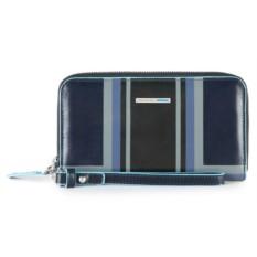Синий портмоне-клатч Piquadro Blue Square
