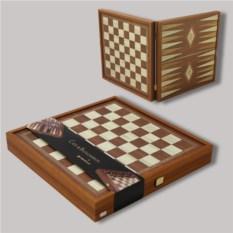 Набор игр в деревянном кейсе шахматы и нарды