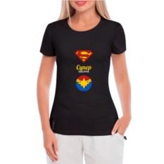 Женская футболка Супер героини и супер сестра