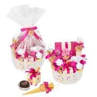 Подарочный набор конфет в корзине Нежность