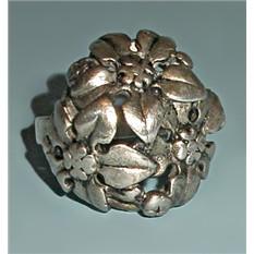 Винтажное кольцо из серебра Букет (размер 16)
