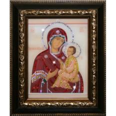 Икона Божией Матери Тихвенская с кристаллами Swarovski