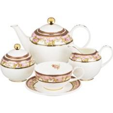 Чайный сервиз на 6 персон Узор с цветами