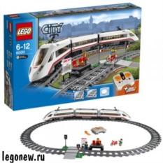Конструктор Лего Город. Скоростной пассажирский поезд