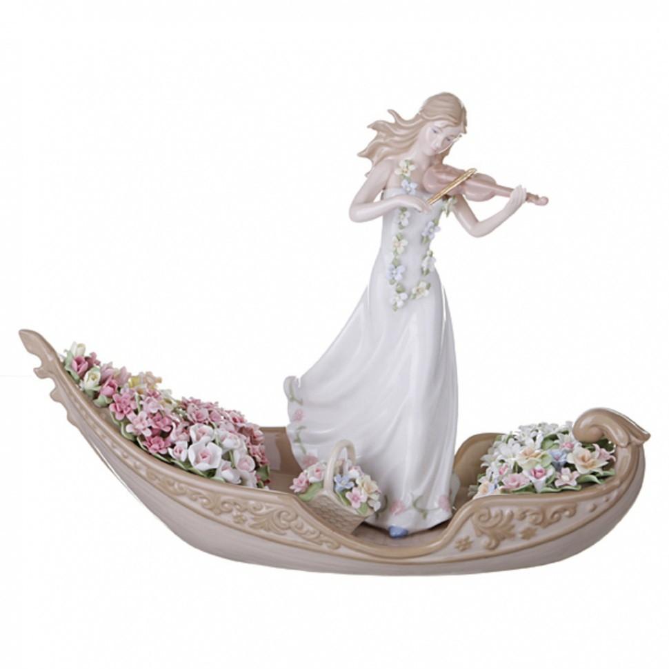 Статуэтка Девушка со скрипкой Porcelain Manufacturing