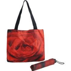 Подарочный набор Роза : зонт и сумка для шопинга