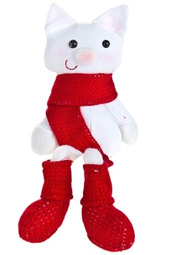 Игрушка мягкая Котик в шарфике