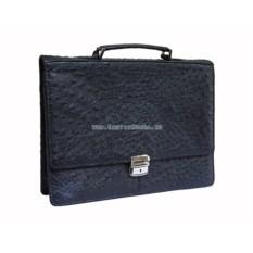 Мужской портфель из кожи страуса