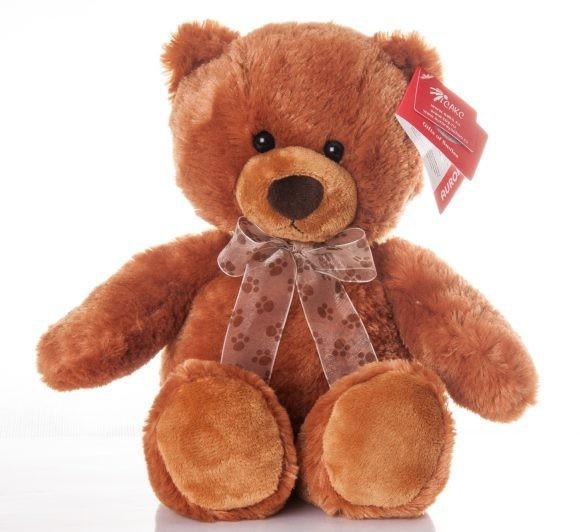 Мягкая игрушка Медведь коричневый сидячий
