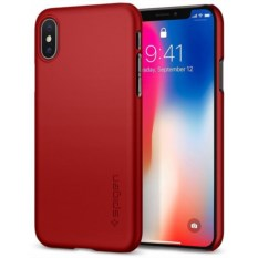 Чехол Spigen для iPhone X Thin Fit Metallic Red