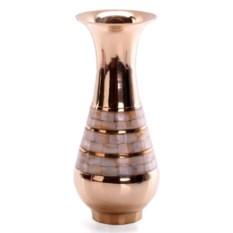 Высокая латунная ваза с перламутром