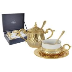 Чайный набор на 6 персон Stradivari с отделкой под золото