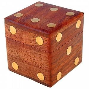 Набор кубиков в деревянной шкатулке «Азарт»