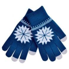 Перчатки для сенсорных экранов Снежинка