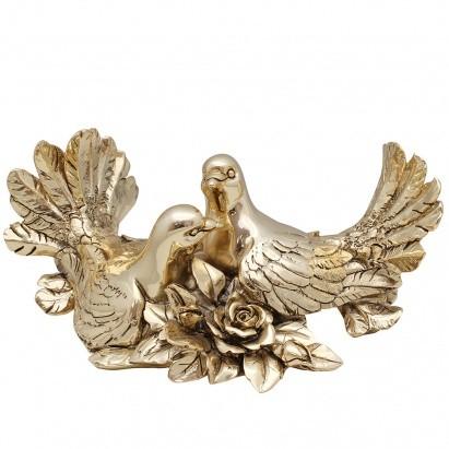 Композиция Пара голубей с розами