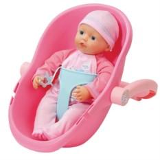 Кукла и кресло-переноска My Little Baby Born (Zapf Creation)