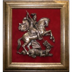 Настенное панно Герб Москвы в раме