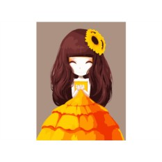 Картина по номерам «Девочка-осень»