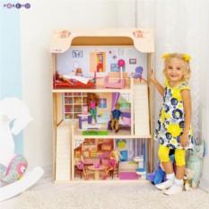Деревянный домик для кукол Шарм