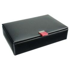 Черная шкатулка с розовым язычком для запонок LC Designs