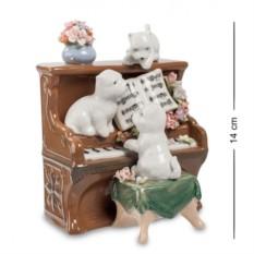 Музыкальная статуэтка Щенята и Пианино