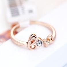 Позолоченное кольцо с австрийскими кристаллами С любовью