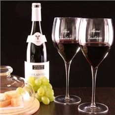 Пара бокалов для вина Бургундия