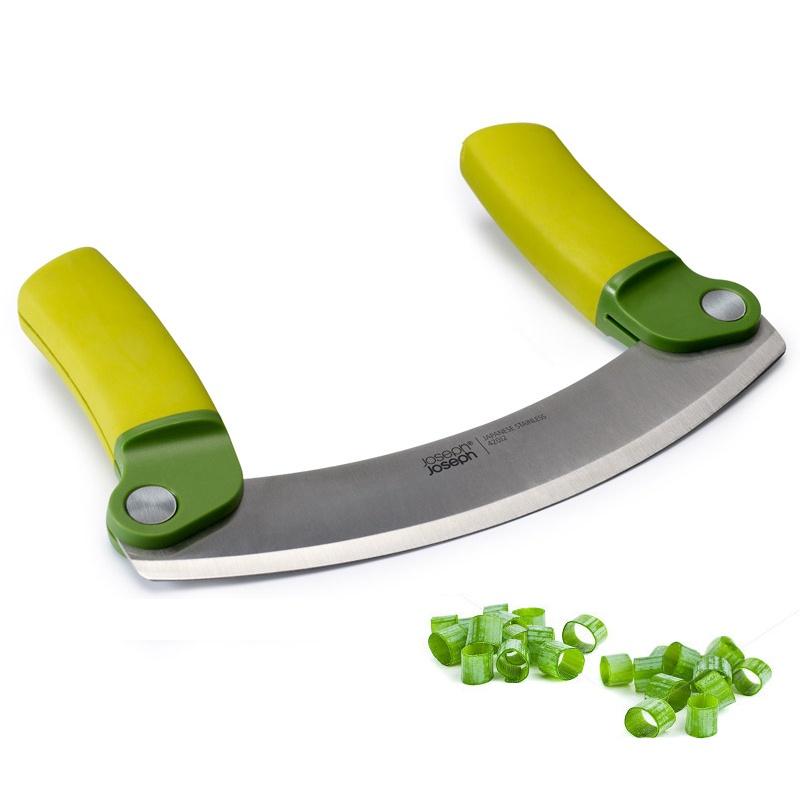 Нож для зелени складной Mezzaluna™, зеленый
