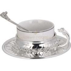 Набор для чая Собака в серебре