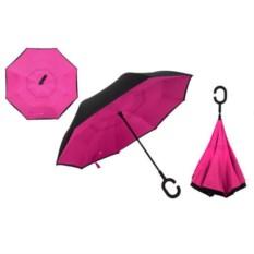 Розовый зонт-наоборот