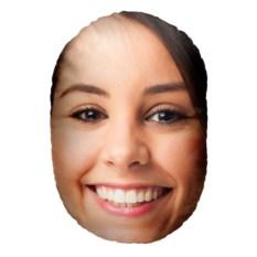 Подушка-голова с вашим фото «Она»