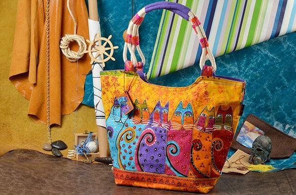 Пляжная сумка Кошачий строй