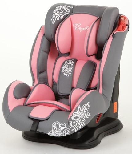 Автокресло Capella S12310L Luxe, цвет: розовый/серый